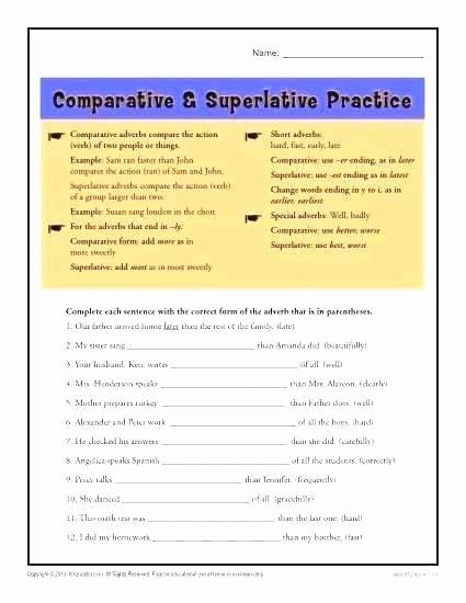 Adjectives Worksheets for Grade 2 Parative Worksheets for Grade 2 – Openlayers