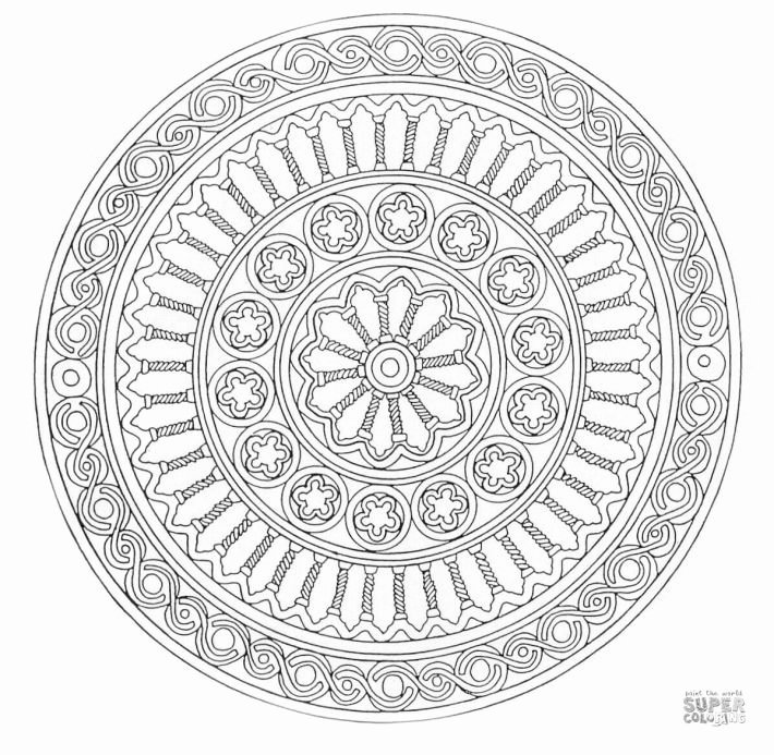 Advanced Geometric Coloring Pages Inspirational Free Printable Mandala Coloring Pages for Adults