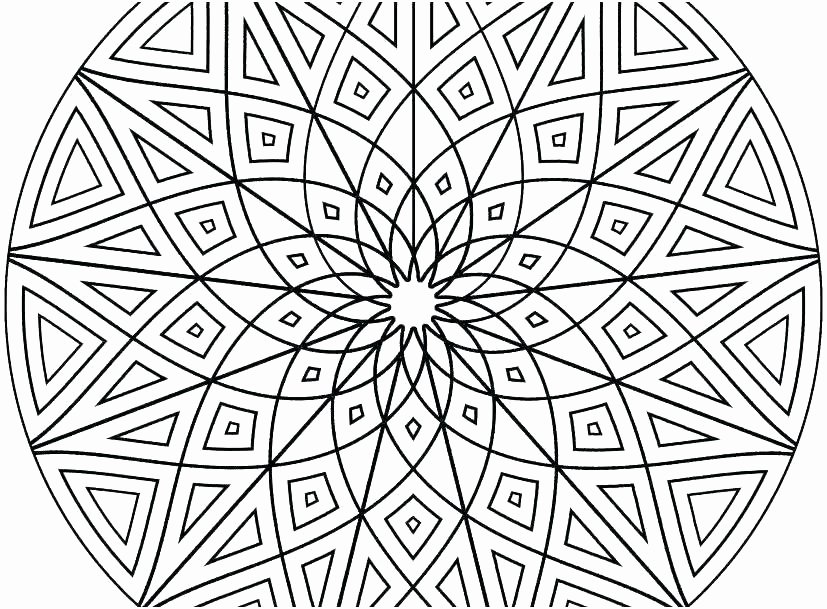 Advanced Geometric Coloring Pages New Cool Patterns to Color – Apartamentosbogota