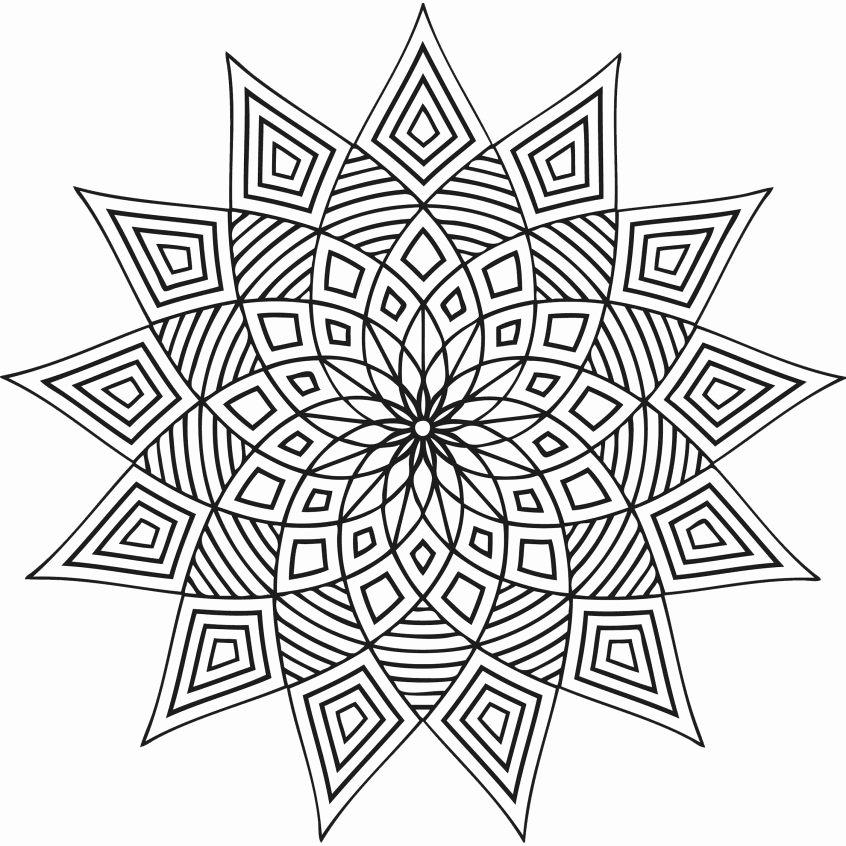 Advanced Geometric Coloring Pages Unique Coloring Free Printable Adult Coloring Pages Geometric