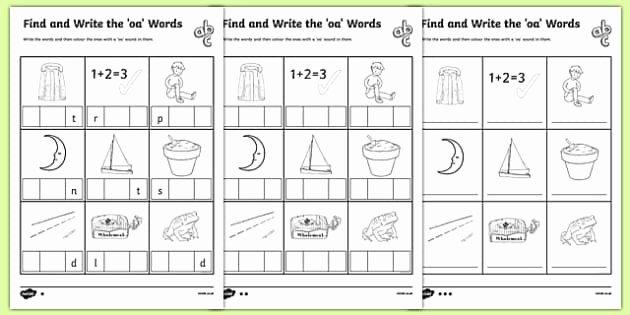 Ai Phonics Worksheet All Worksheets Oa Oe Ow Worksheets Phonics Phonics