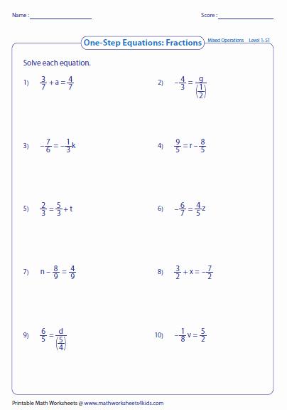 Algebra Tiles Worksheets 6th Grade Classy solving Algebraic Equations Worksheets 6th Grade