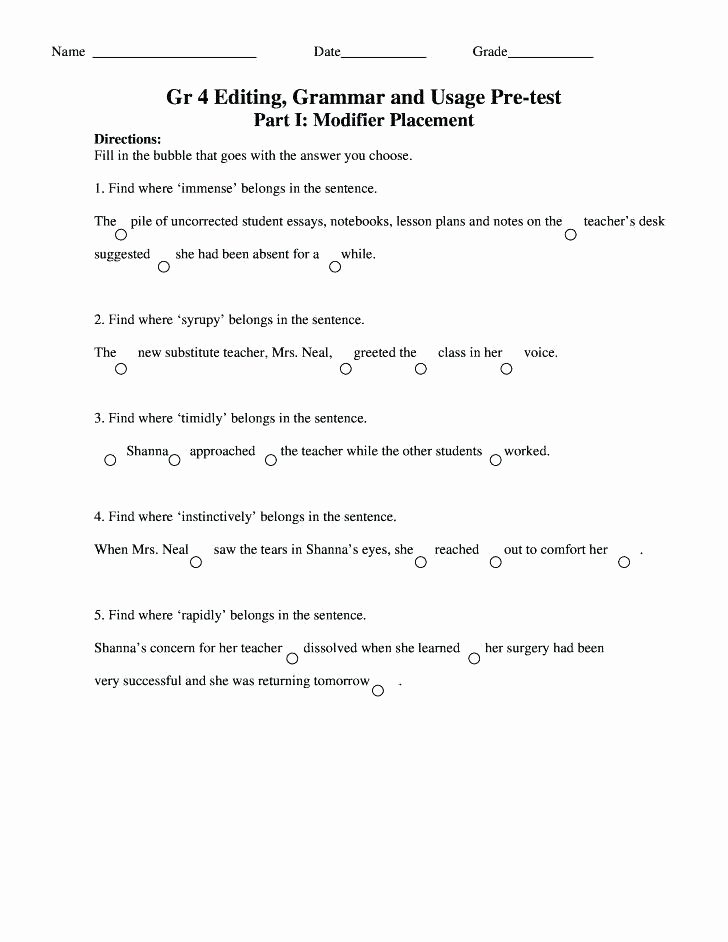 Alliteration Worksheets 4th Grade Alliteration Worksheets for 6th Grade
