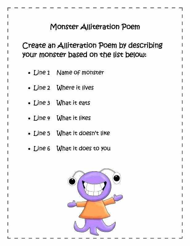 Alliteration Worksheets for Middle School Alliteration Worksheets 3rd Grade
