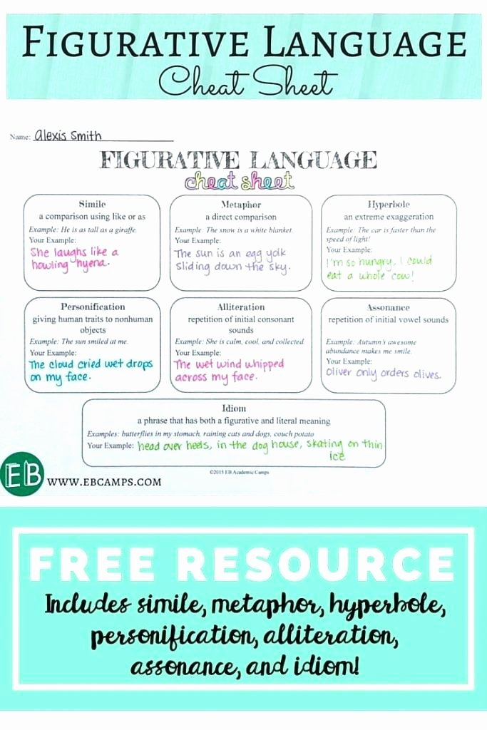 Alliteration Worksheets for Middle School Alliteration Worksheets High School – Ccavzyfo