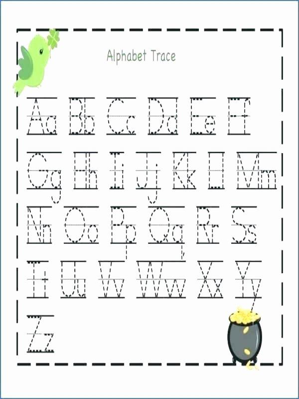 Alphabet Trace Sheets Alphabet Worksheets Kindergarten Free Printable Letter