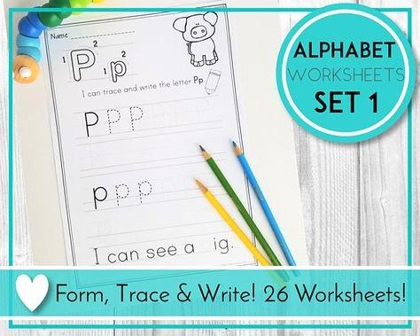 Alphabet Trace Sheets Pinterest