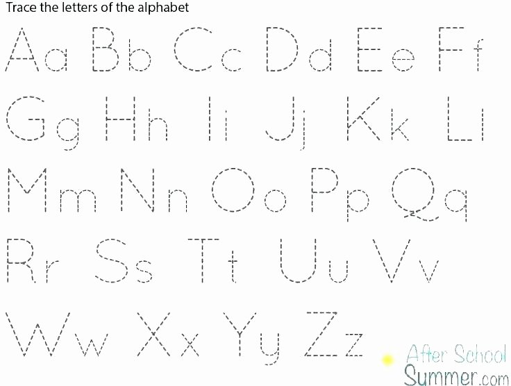 Alphabet Trace Worksheet Cursive Alphabet Tracing Worksheets