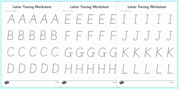 Alphabet Trace Worksheet Free Printable Tracing Letter F Worksheet Worksheets for K