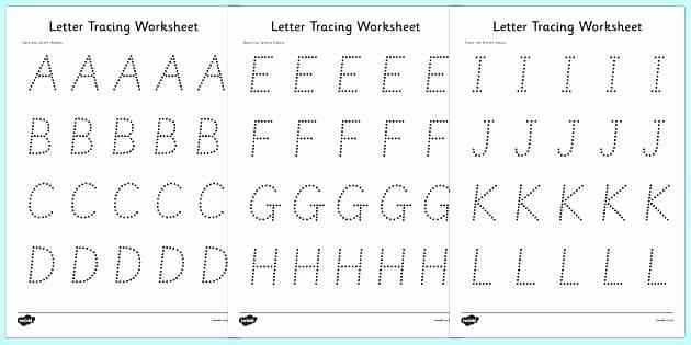 Alphabet Trace Worksheet Free Printable Tracing Letter F Worksheet Worksheets for K
