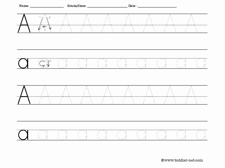 Alphabet Trace Worksheet Free Printing Worksheets