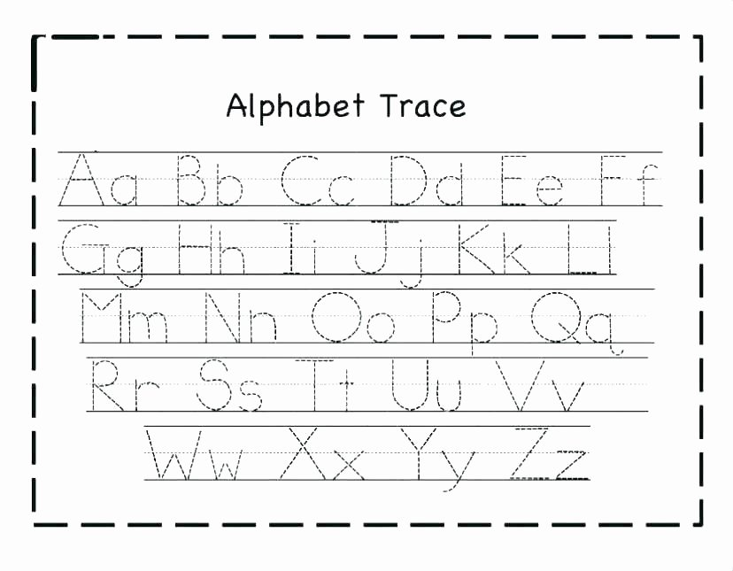 Alphabet Trace Worksheet Lowercase Letter Lowercase Letters Worksheet Cut and Paste