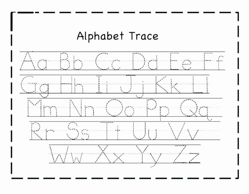 Alphabet Trace Worksheet Lowercase Letter Lowercase Letters Worksheet Cut and Paste