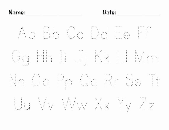 Alphabet Trace Worksheet Preschool Writing Worksheets Free Printable