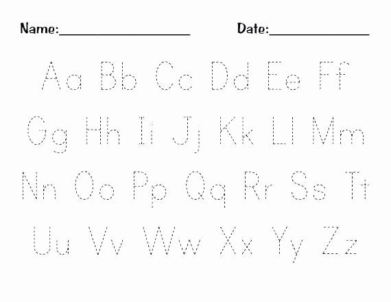 Alphabet Trace Worksheet Preschool Writing Worksheets Free Printable