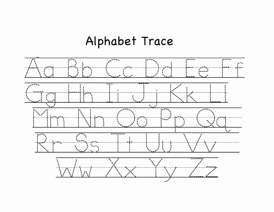 alphabet tracing worksheets kids a z capital and lowercase small pdf tracin