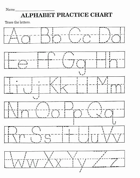Alphabet Tracing Worksheets Az Pdf Tracing Alphabet Worksheets A to Z Traceable Alphabet