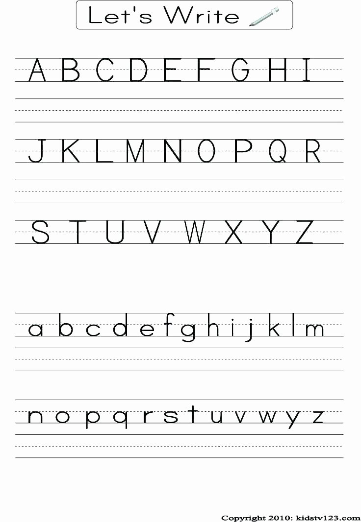 Alphabet Tracing Worksheets Az Pdf Worksheets for 3 Year X Big Letter W Writing Worksheet