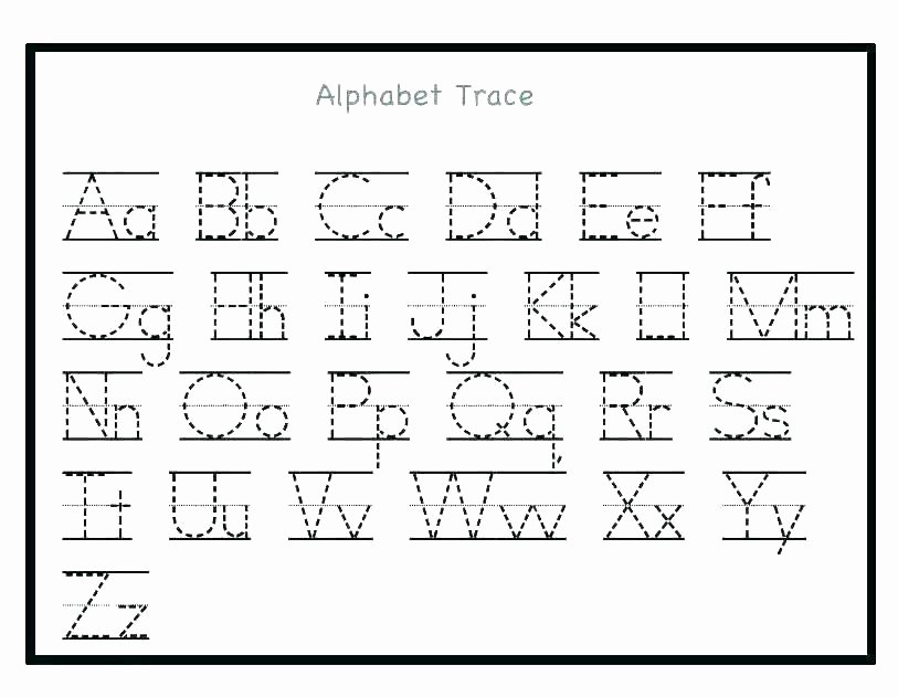 Alphabet Tracing Worksheets Pdf Kindergarten Letter Tracing Worksheets – Openlayers