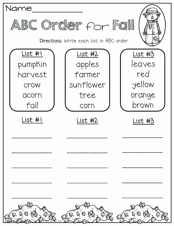 Alphabetical order Worksheets 2nd Grade Fall Puzzle Worksheets Free Library Download and Print