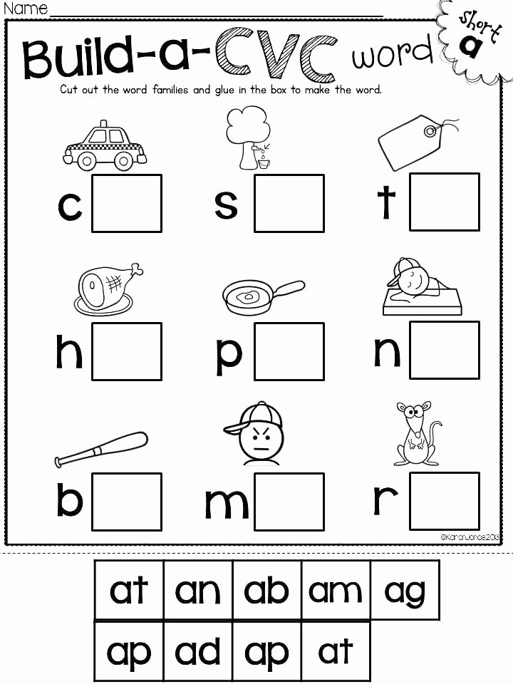Am Word Family Worksheet Cvc at Family Worksheets
