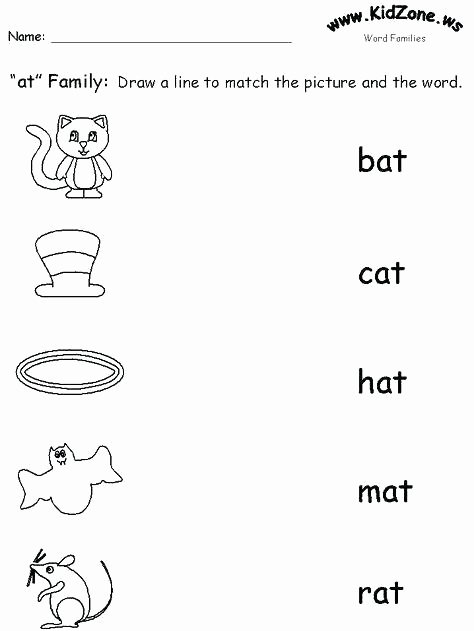 Am Word Family Worksheet Og Word Family Worksheets