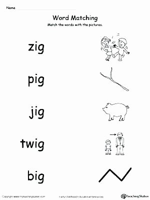Am Word Family Worksheet Word Family Worksheets Free Picture and Match Families