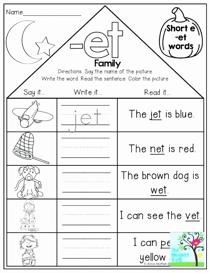 Am Word Family Worksheets Words Ea Word Family Worksheets Related Post Phonics