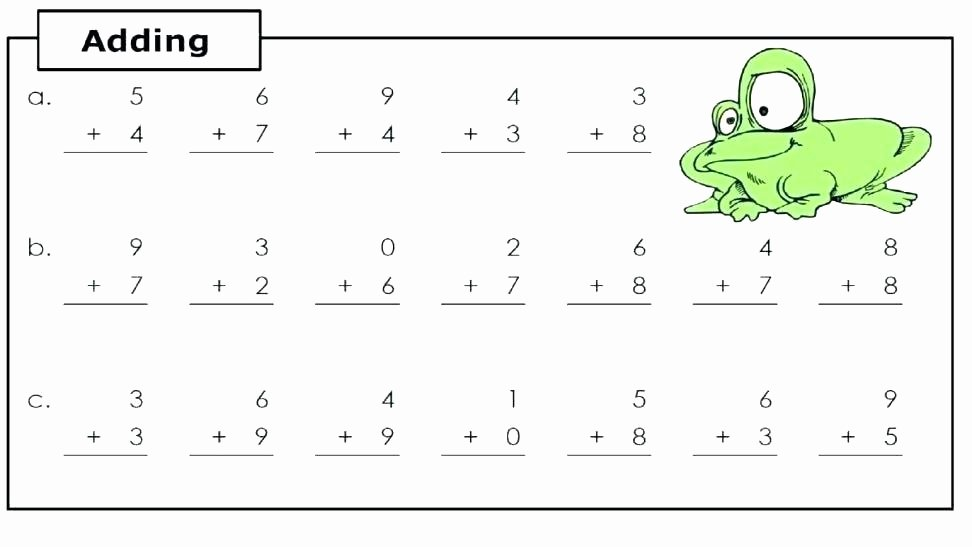 Amphibian Worksheets for Second Grade Fun Addition Worksheets for 1st Grade Easy Addition