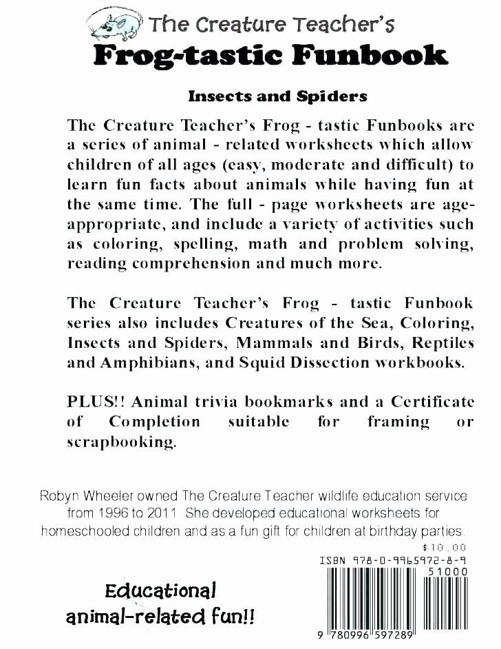 Amphibian Worksheets for Second Grade Macoopenlife