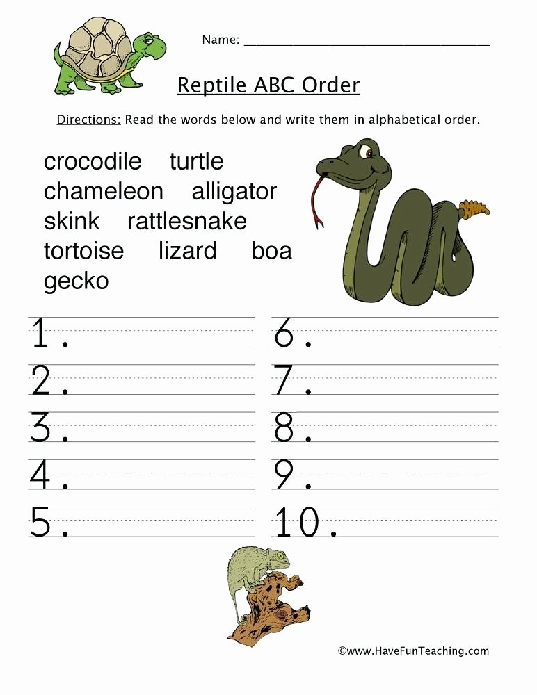 Amphibian Worksheets for Second Grade Reptiles and Amphibians Worksheet the Best Worksheets Image