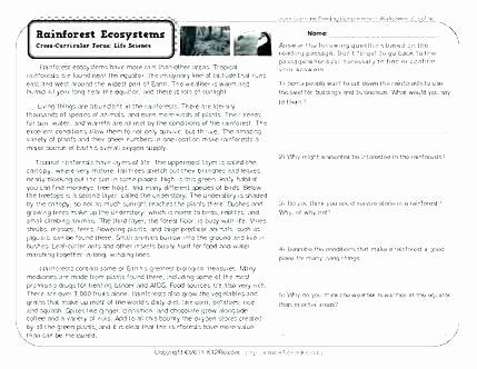 Amphibian Worksheets for Second Grade Second Grade Science Worksheets Reading Prehension