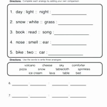 Analogy Worksheets for Middle School Elegant Best Analogies Worksheets Grade Thanksgiving 3rd