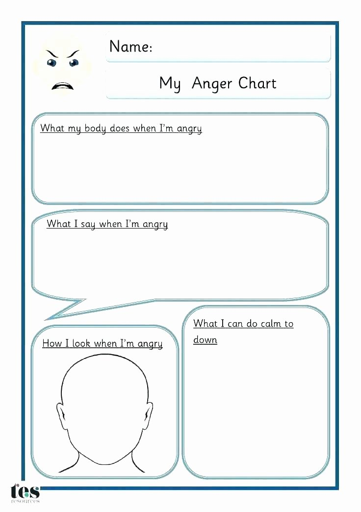 Anger thermometer Worksheet Feelings thermometer Template for Kids – Copyofthebeautyfo