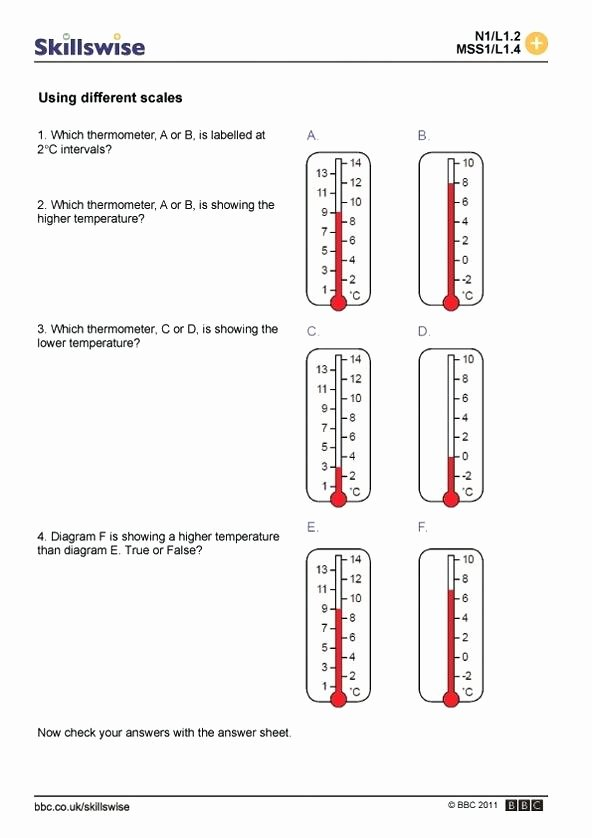 Anger thermometer Worksheet Reading Temperatures A thermometer Worksheets