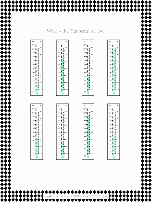 Anger thermometer Worksheet thermometer Worksheets
