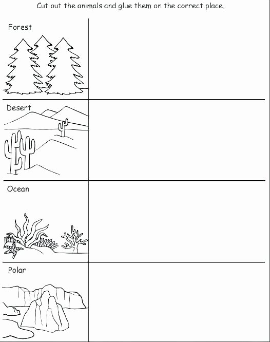 Animal and their Habitats Worksheets Desert Worksheets Desert Quiz Desert Worksheets for Third