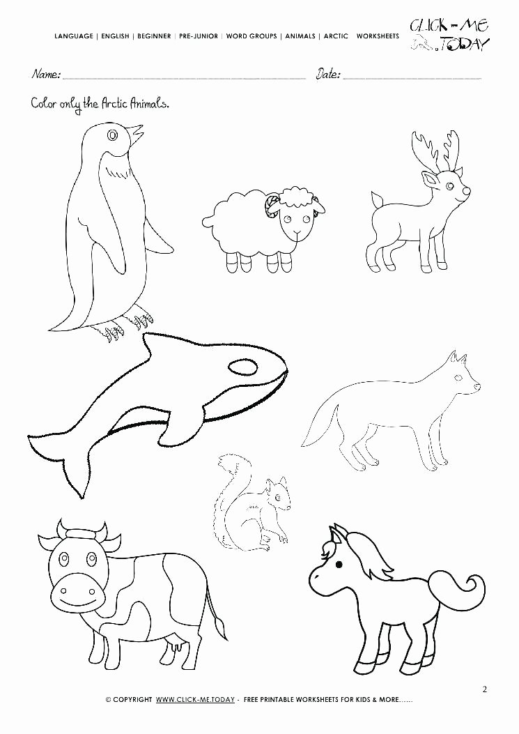 Animal and their Habitats Worksheets Of Free Animal Habitats Coloring Pages