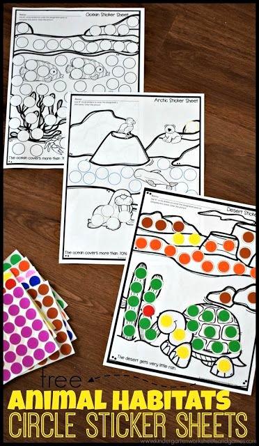 Animal Habitat Worksheets for Kindergarten Free Animal Habitat Sticker Worksheets these Free