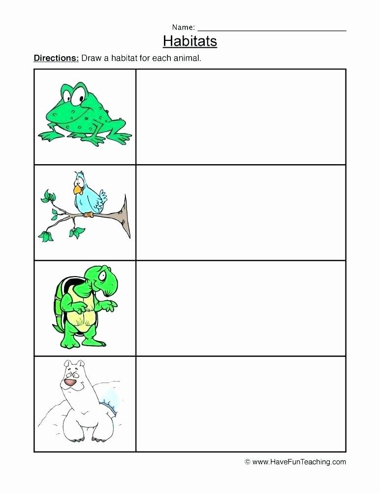 Animal Habitat Worksheets for Kindergarten Free Printable Worksheets Animal Habitats Animals and