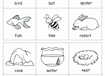 Animal Habitat Worksheets for Kindergarten K Worksheets Counting Up to 3 Count Animals Dots Shapes