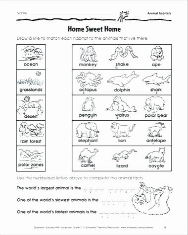 Animal Habitat Worksheets for Kindergarten Printable Desert Habitat Free Worksheets for Preschool and