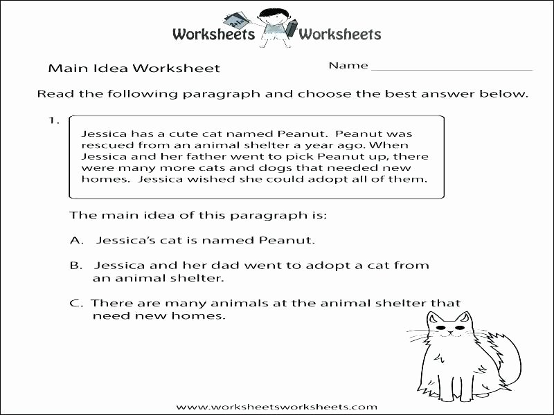 Animal Homes Worksheet Main Idea Of A Paragraph Worksheets