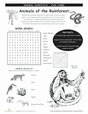 Animals and their Habitats Worksheet Animal Science Worksheets – Jakejamesub