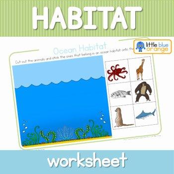 Animals and their Habitats Worksheet Habitat Worksheet