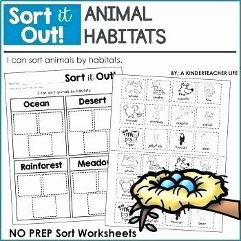 Animals and their Habitats Worksheet Identify Hot and Cold Habitats Animal sorting Worksheet Free
