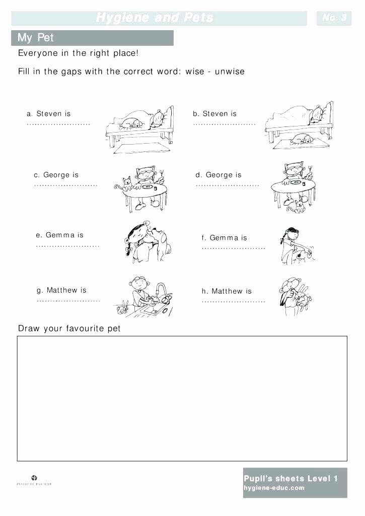 Animals and their Habitats Worksheet Pet Worksheets for Grade 1
