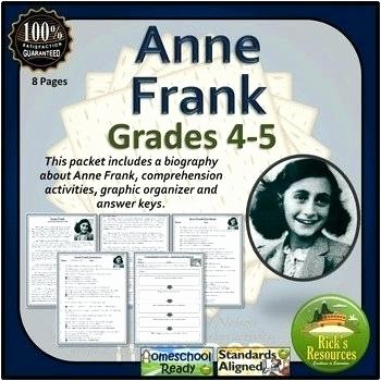 Anne Frank Worksheets Middle School Anne Frank Worksheets for Kids All You Need to Teach An