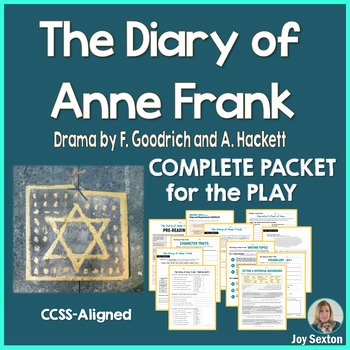 Anne Frank Worksheets Middle School Diary Anne Frank Play Study Worksheets & Teaching