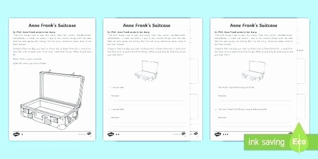 Anne Frank Worksheets Middle School Diary Of Anne Frank Worksheets